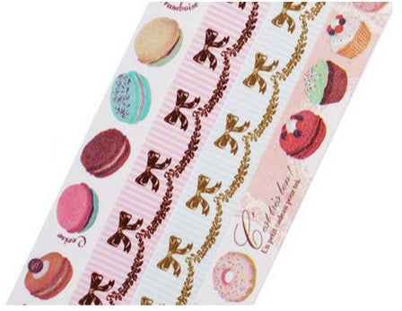 Amifa - Macarons, Cupcakes & Ribbons Washi Tape (15mm)