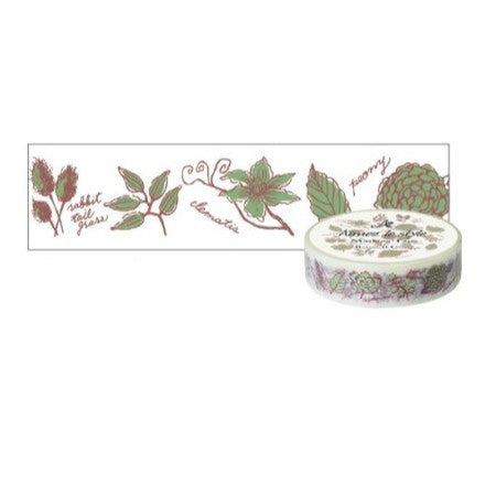 Aimez Le Style Botanical Green Washi Tape (15 mm)