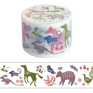 Aimez Le Style Botanic Animal Washi Tape (38 mm)