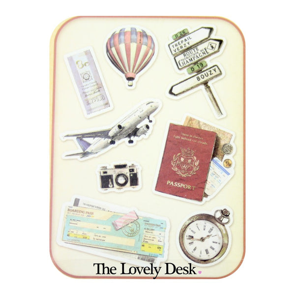 Poste Lippee Flake Stickers - Travel