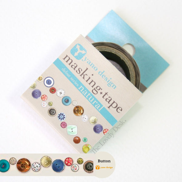 Yano Design Button Die-Cut Masking Tape