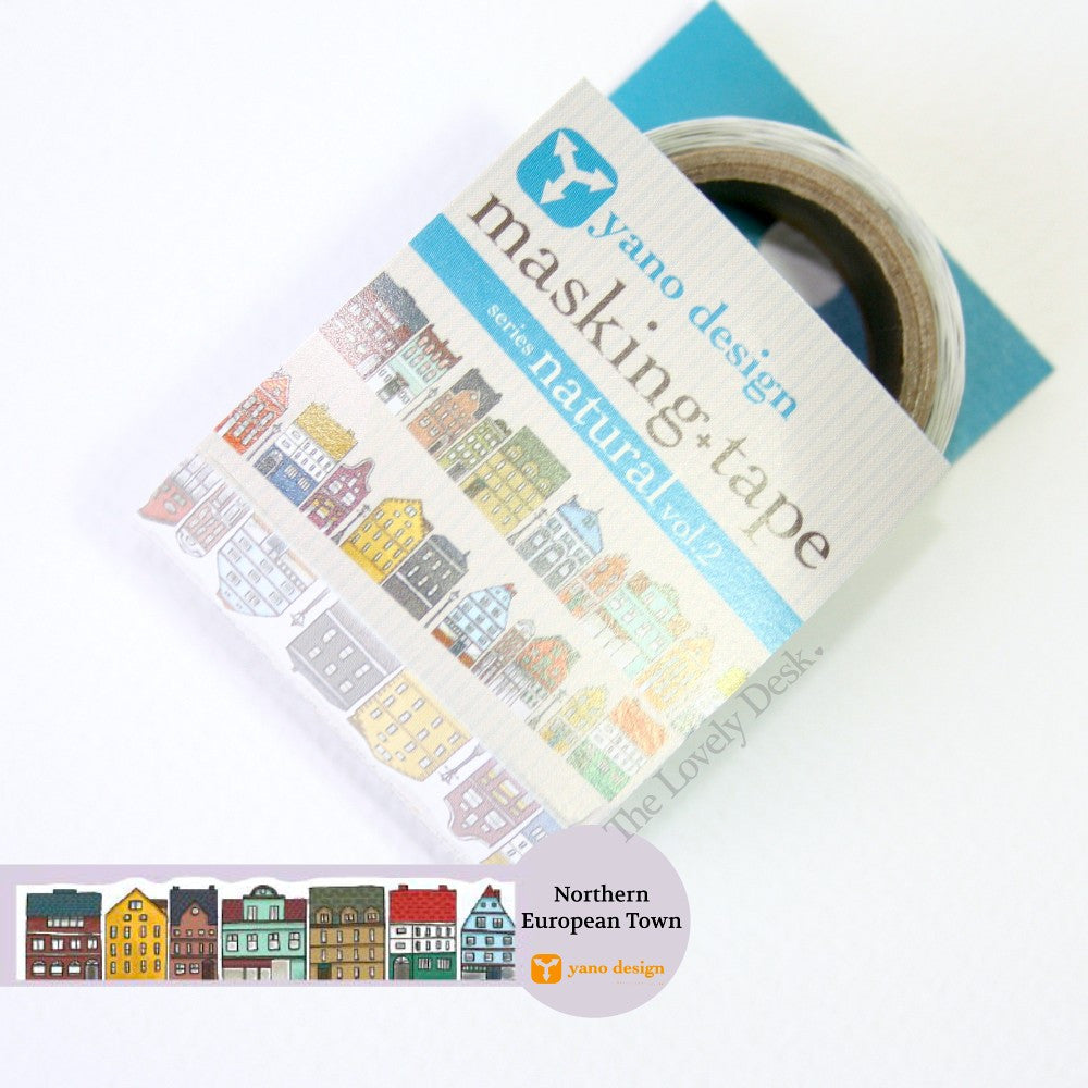 Yano Design Northern European Town Die-Cut Masking Tape