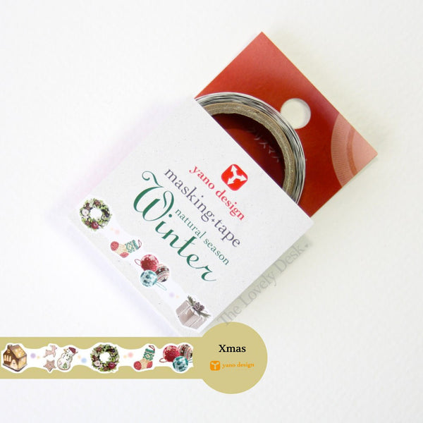Yano Design Xmas (Winter) Die-Cut Masking Tape