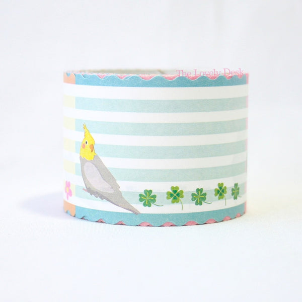 Budgie Birds Die-Cut Sticky Memo Tape