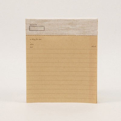 "O-Check Check List Note Note Pad ""A Day for Me"" - Kraft"