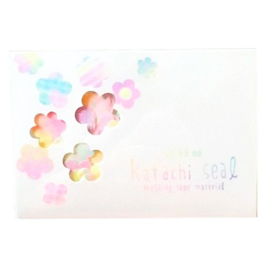 Flower Masking Tape Stickers - Keiko no Katachi Seal (Masking Tape Material)
