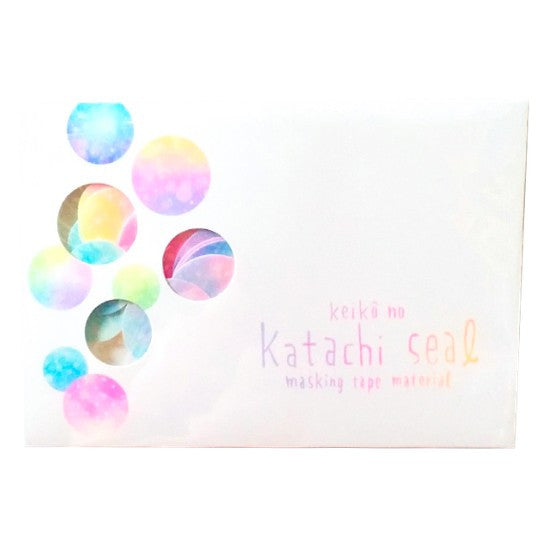 Circles Masking Tape Stickers - Keiko no Katachi Seal (Masking Tape Material)