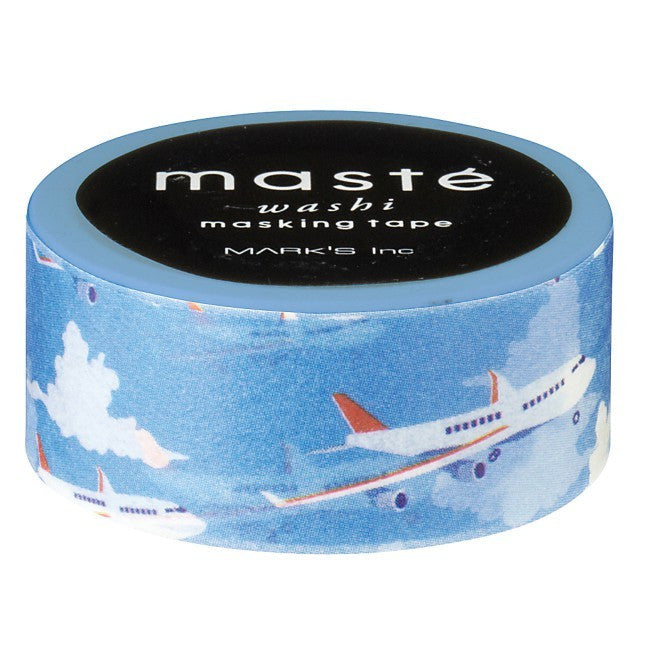 Masté Multi - Airplane Blue Sky Washi Tape (15mm)