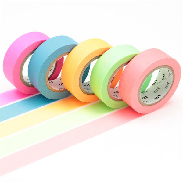MT Shocking Green Fluorescent Washi Tape (15mm)