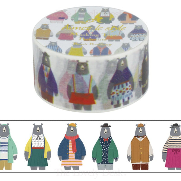 Aimez Le Style Bear's Runway Washi Tape (28 mm)