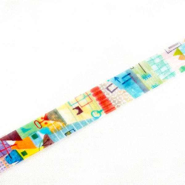 Chamil Garden Valley Washi Tape (15mm, Collage Washi)