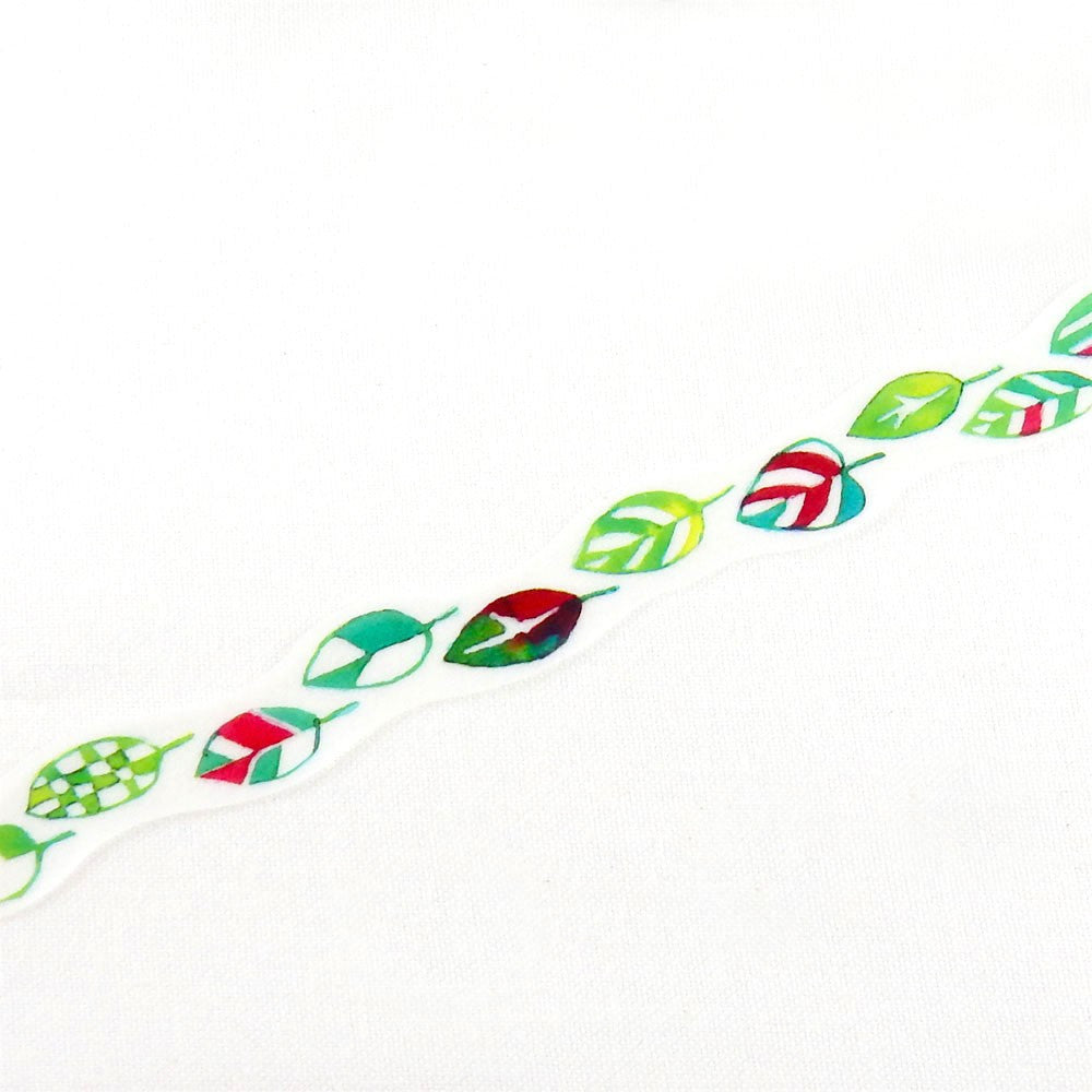 Space Craft Leaf Washi Tape (15mm, Watercolour Washi)