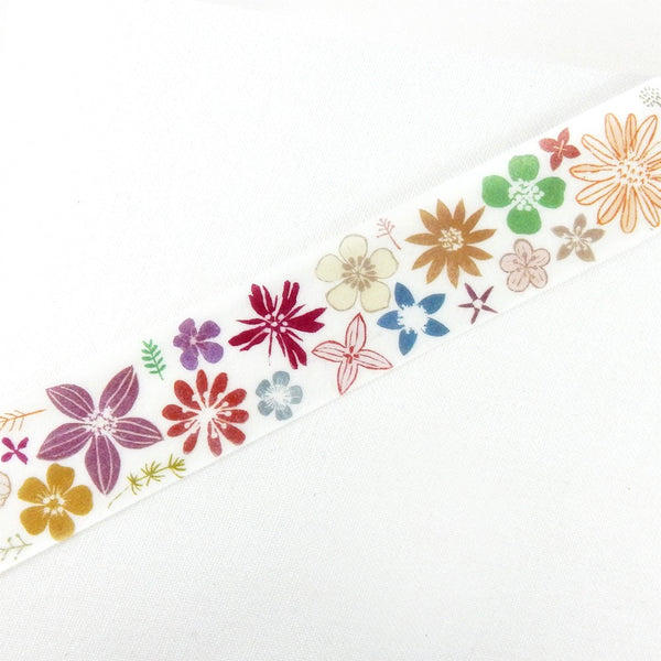 Chamil Garden Colour Flower Washi Tape (25mm, Floral Washi)