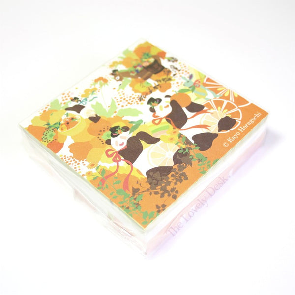 Kayo Horaguchi Panda & Fruit Memo Block Note Pad