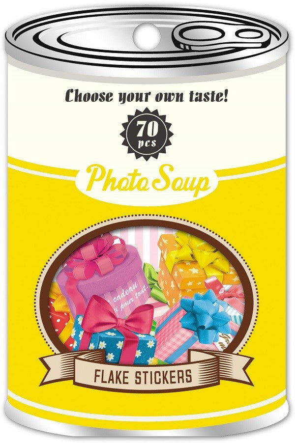 Photo Soup Flake Stickers - Colour Presents (Gift Theme)