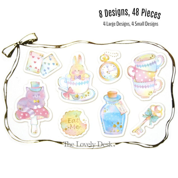 Jamjelly Flake Stickers - Alice in Wonderland [Tracing Paper Sticker Pack]