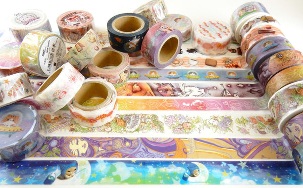 Little Path x Roundtop Tea Fantasy Cat Washi Tape (20mm, Food & Animal Washi)