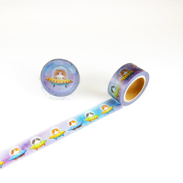 Little Path x Roundtop UFO Cat Washi Tape (20mm, Animal Washi)