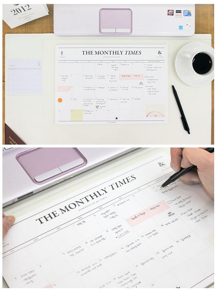 The Monthly Times Desk Planner by Seeso Graphics