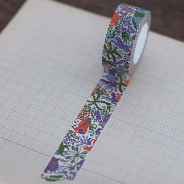 Classiky Ranch Farm Violet Washi Tape (20mm Floral Nature) [Mihani]