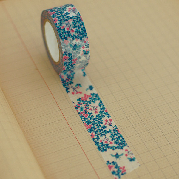 Classiky Wood Sorrel Blue Washi Tape (20mm Floral) [Mihani]