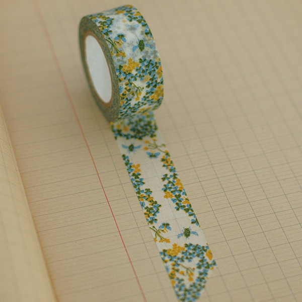Classiky Wood Sorrel Green Washi Tape (20mm Floral) [Mihani]