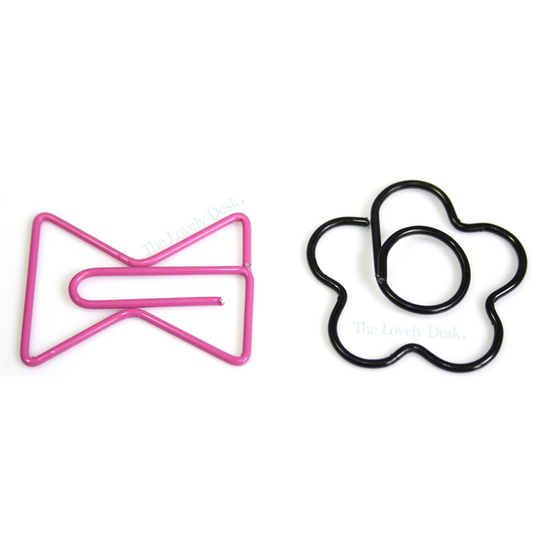 Mind Wave Cute Bow & Flower Planner Paper Clips