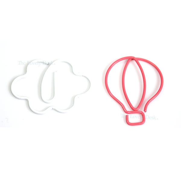 Mind Wave Travel Hot Air Balloon & Cloud Planner Paper Clips