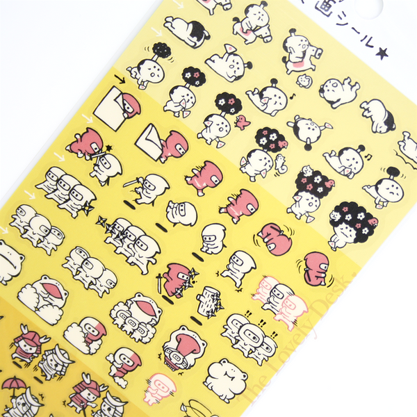 Mind Wave Ninja & Warrior Flipbook Sticker Sheet - Cartoon Flip Book Diary Planner Stickers