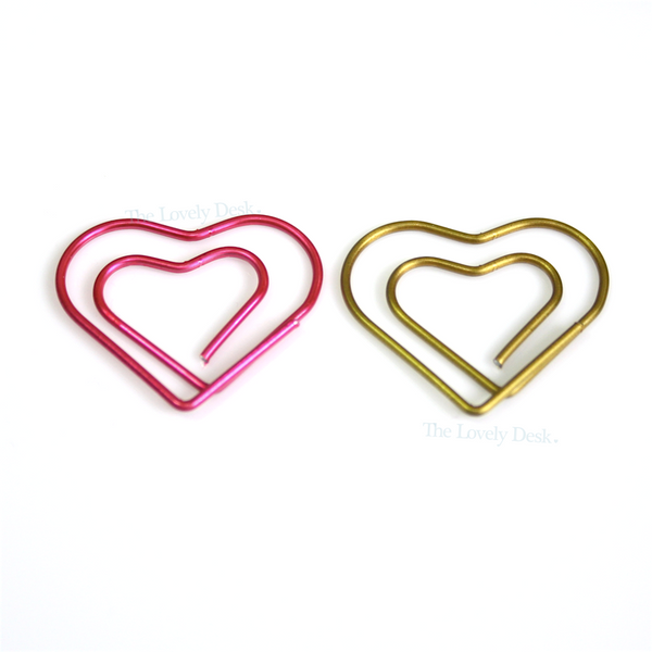 Mind Wave Metallic Hearts Planner Paper Clips