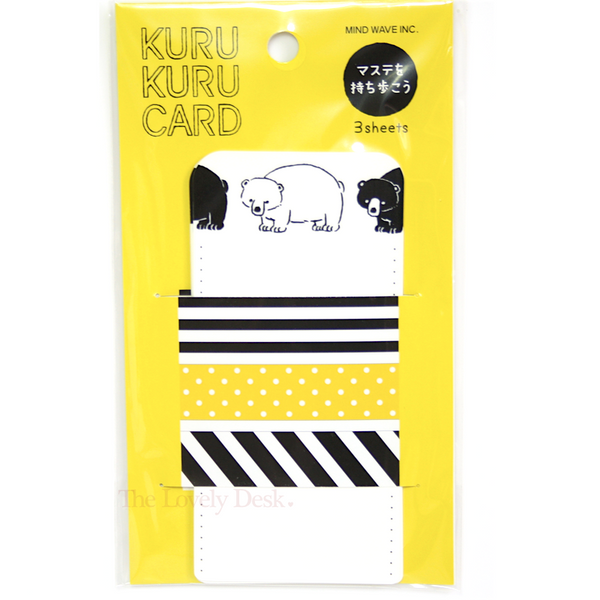 Mind Wave Kuru Kuru Washi Tape Sampler Sharing Cards