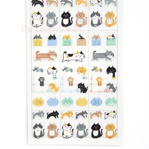 Mind Wave Cat Animal Diary Sticker Sheet - Colourful Pet Clear Planner Stickers