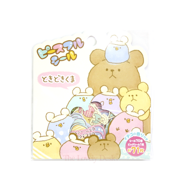 Mind Wave Kawaii Circular Animal Flake Sticker Set (Scented Stickers Pack)