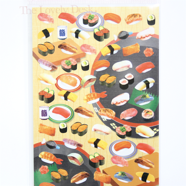 Mind Wave Sushi Sticker Sheet - Japanese Food Diary Planner Stickers