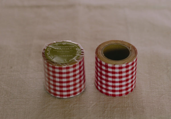 Classiky Red Check Cotton Cloth Tape (45mm)