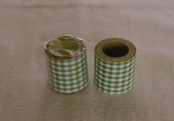 Classiky Green Check Cotton Cloth Tape (45mm)