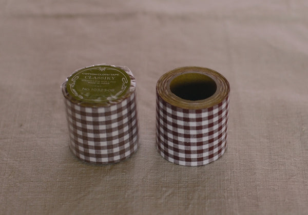Classiky Brown Check Cotton Cloth Tape (45mm)