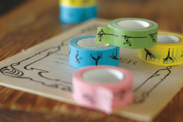 Classiky Side Turn Exercise Washi Tape Set (20mm) [Nancy Seki]