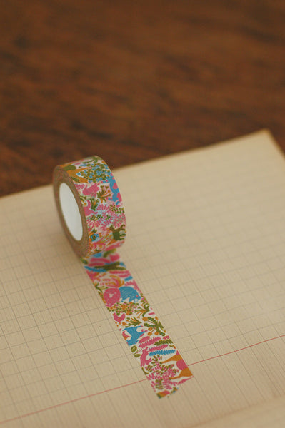 Classiky Ranch Farm Pink Washi Tape (20mm Floral Nature) [Mihani]