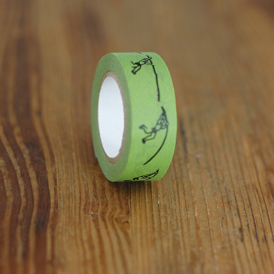 Classiky Green Pole Vault Washi Tape (17mm) [Nancy Seki]