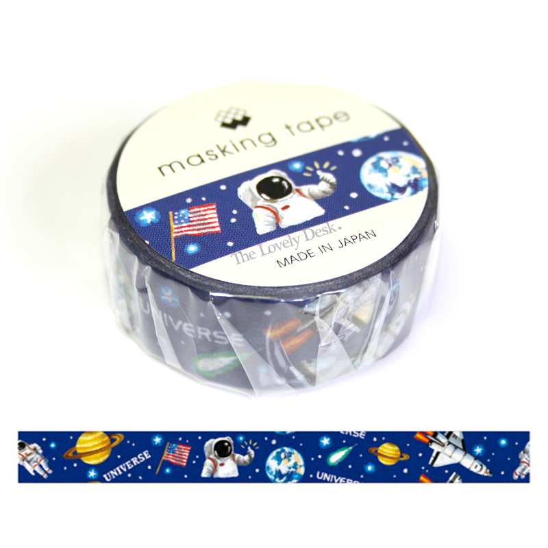 Mind Wave Space and Astronaut Washi Tape (15mm Planet Trip Washi)