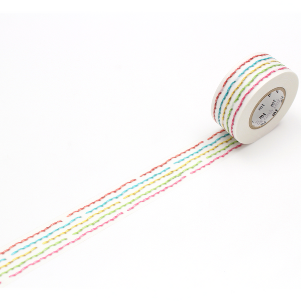 MT for Pack Seam Washi Tape (25mm Colourful Stitch)