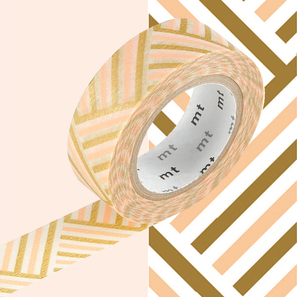 MT Corner Peach Washi Tape (Beige Brown, Gold 15mm)