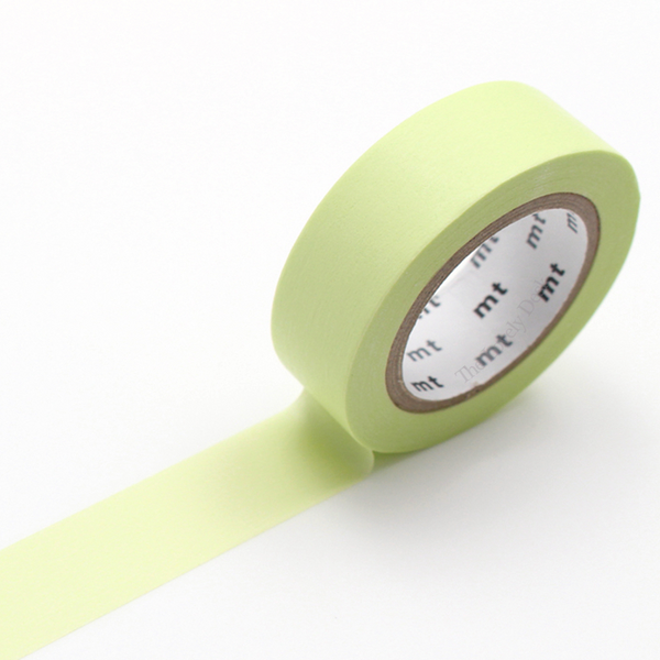 MT Pastel Lime Washi Tape (15mm Yellow Green Washi)