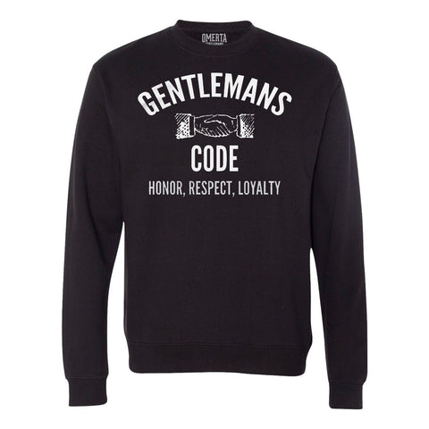 Gentlemans Code Black Crew Neck Sweatshirt