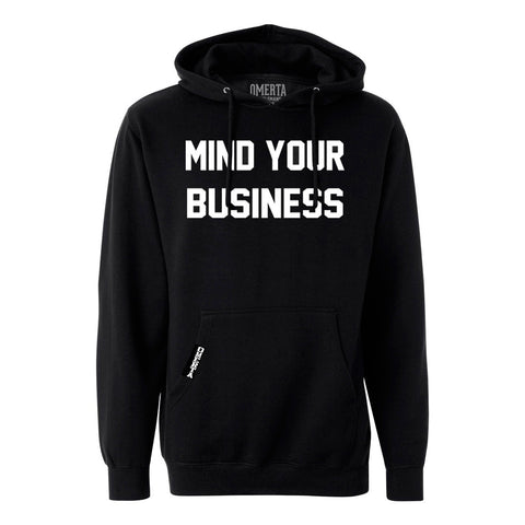 Mind Your Business Black Pullover Sweatshirt