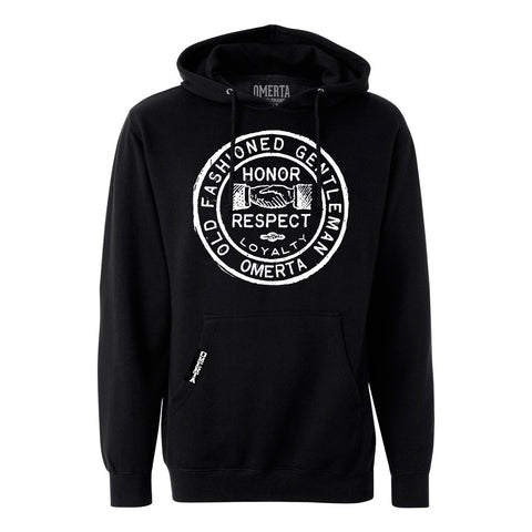 Old Fashioned Gentleman Black Pullover Sweatshirt