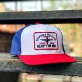 Ready For War Red, White and Blue Meshback Hat