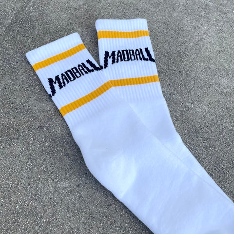 Madball White w/ Yellow and Black Socks