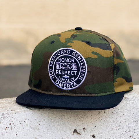 Old Fashioned Gentleman Camo Snapback Hat
